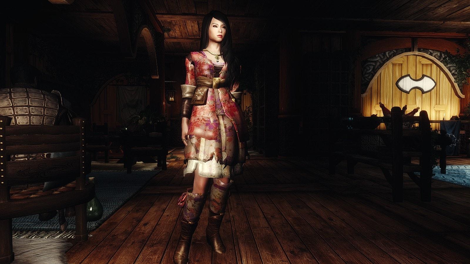 The Witcher 2 - Retexture Brigida Paperbrock Dress | Ретекстур платья Бригиды Пепеброк