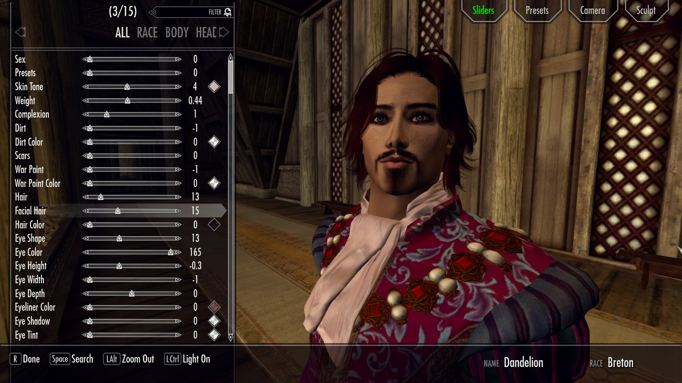 Dandelion the Bard from The Witcher 3 - racemenu preset | Пресет Лютика из Ведьмак 3