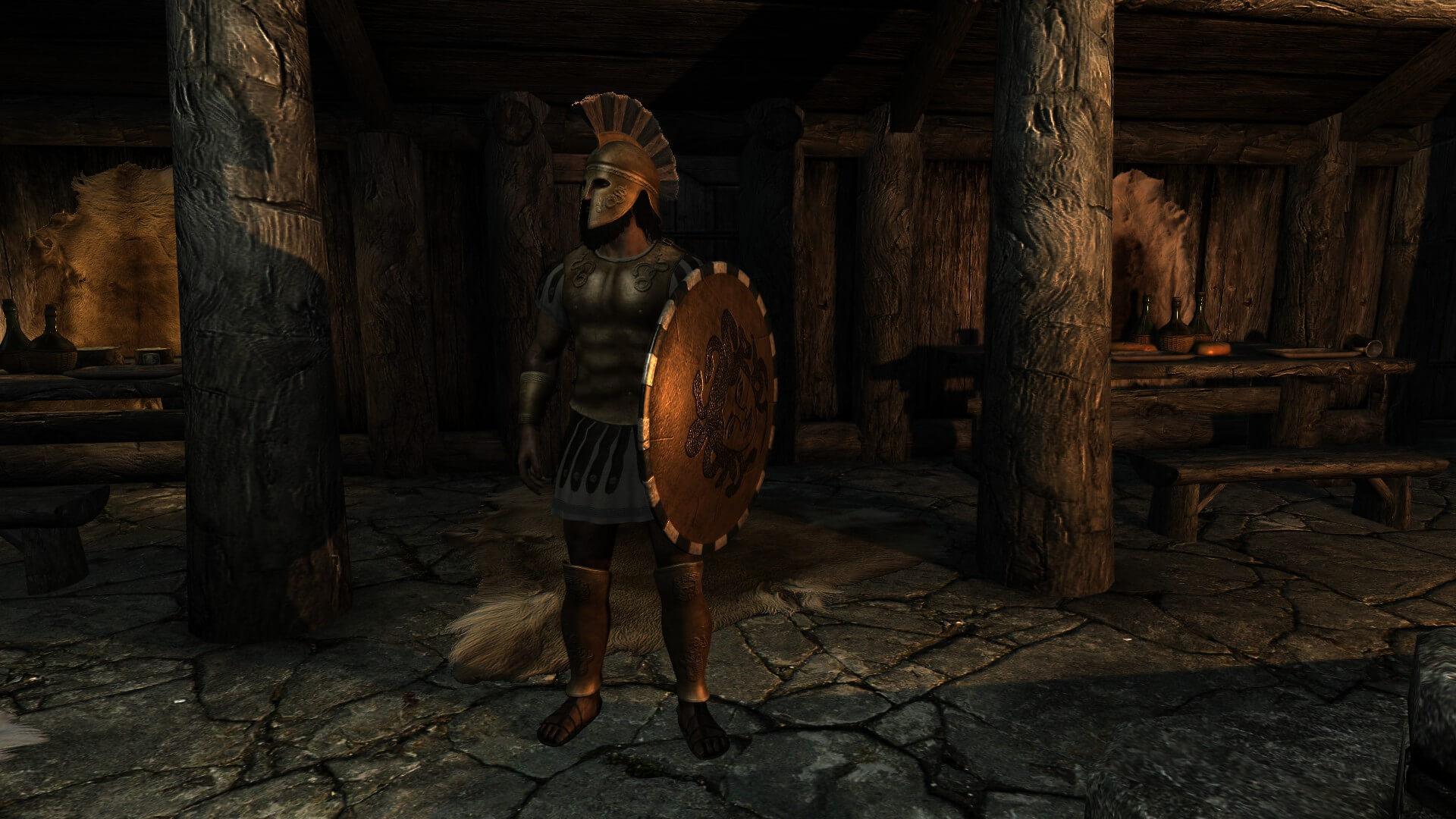 греческая броня скайрим