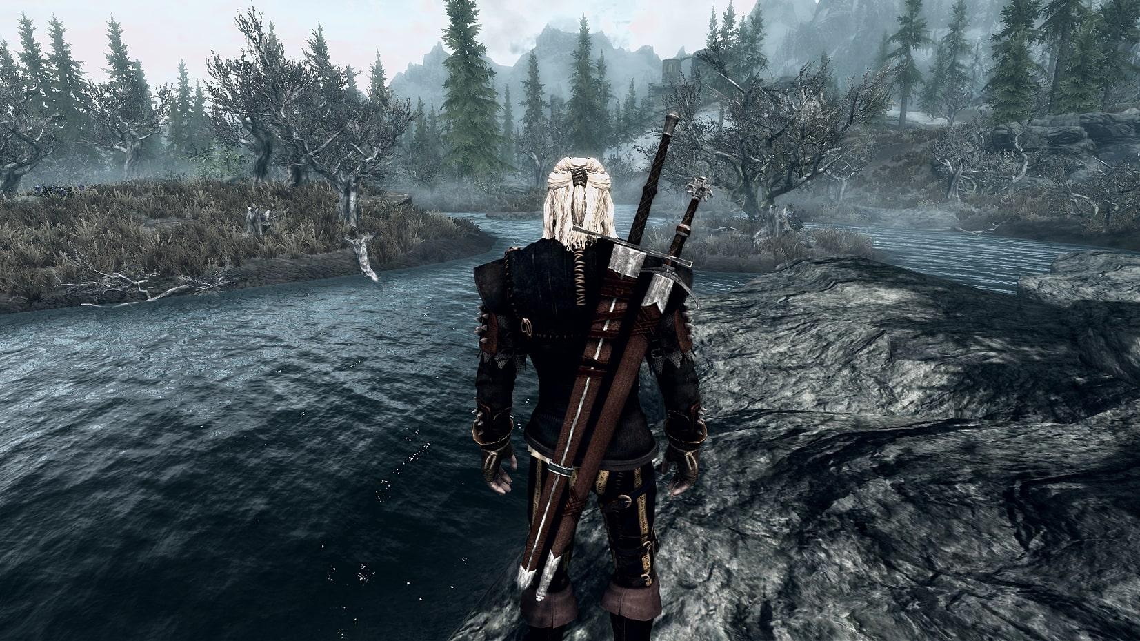 Geralt Light Armor and Witcher Swords | Легкая броня и меч Геральта