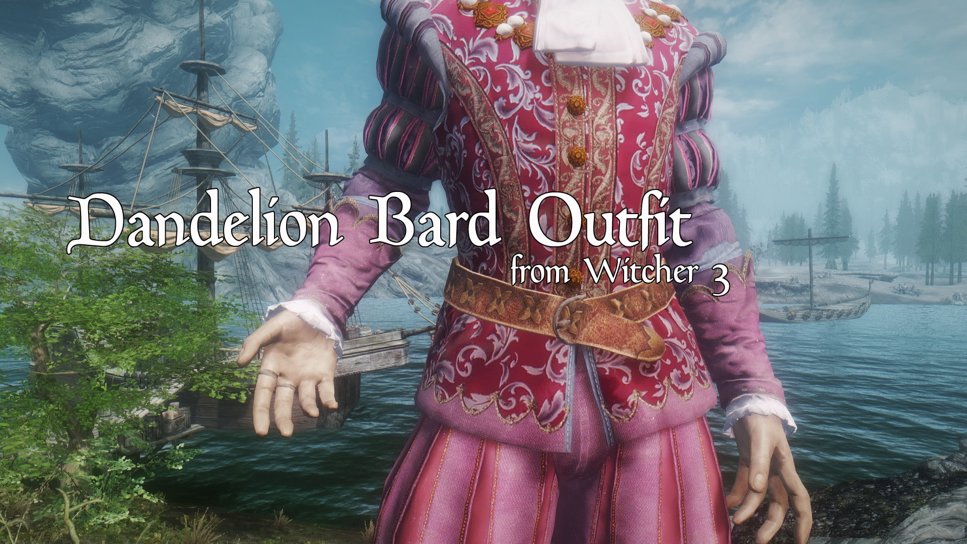 Witcher 3 Dandelion Bard Outfit | Наряд Лютика из Ведьмака 3