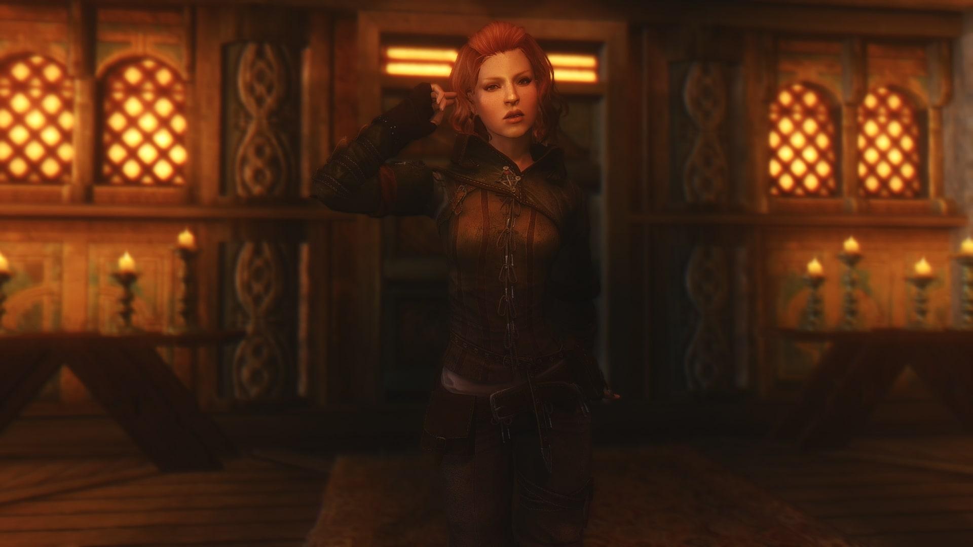 Triss Armor Retextured CBBE HDT | Броня Трисс Меригольд из Ведьмака 2