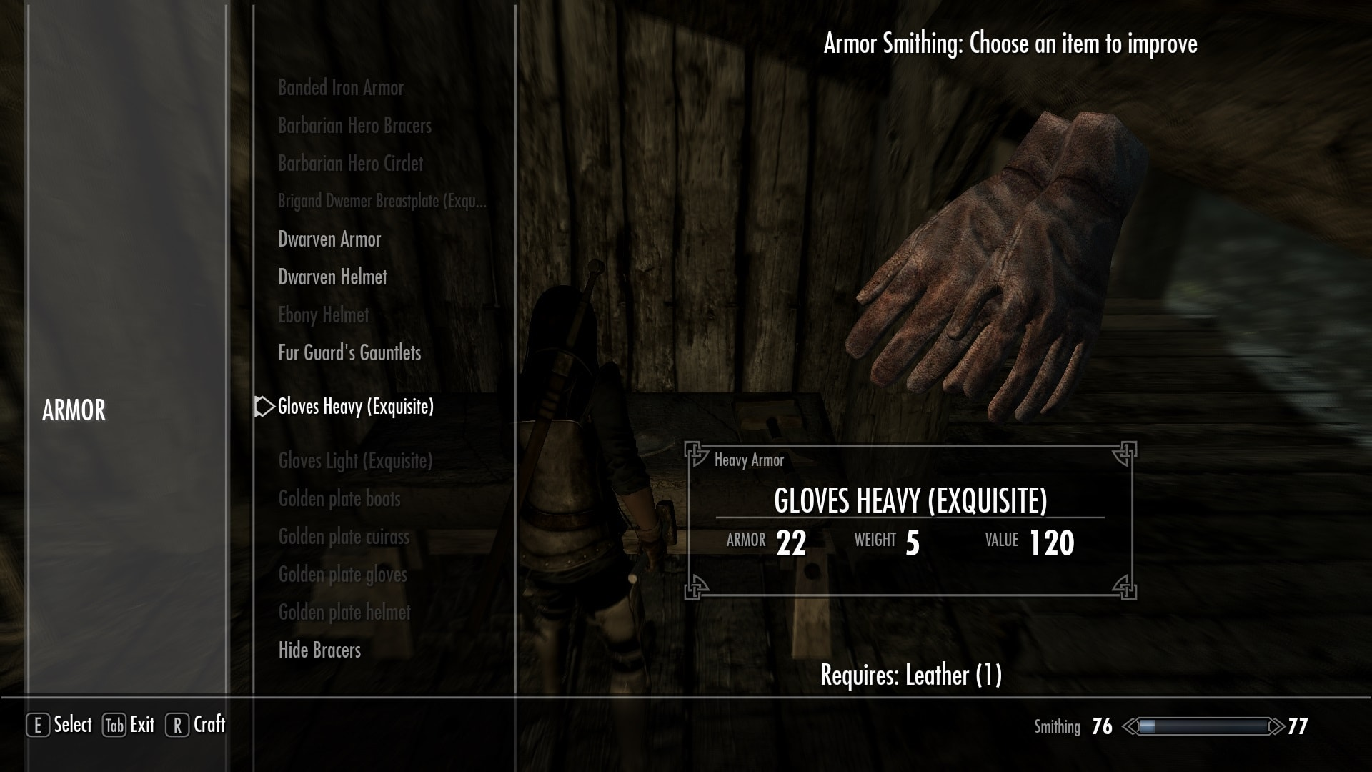 Simple Armored Gloves