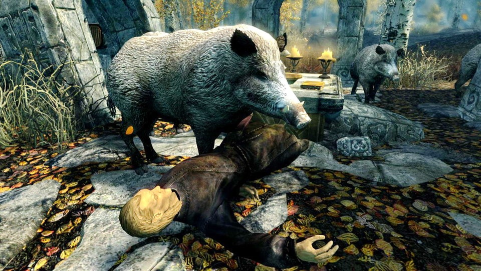 Wild Hogs- Elements of Skyrim